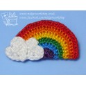 Bright Rainbow Brooch