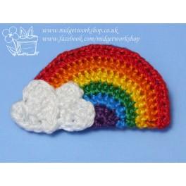 Bright Rainbow Brooch