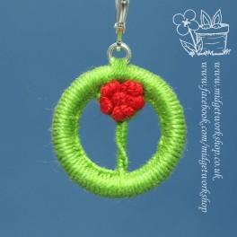 Single Rose Dorset Button Stitch Marker