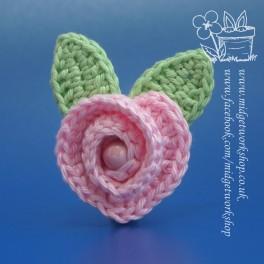 Heartfelt Rose Brooches