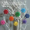 Crochet Star Baubles