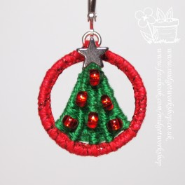 O Christmas Tree Dorset Button Stitch Marker