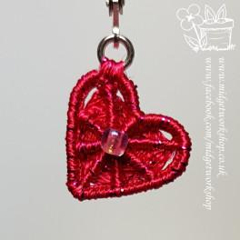 Crosswheel Heart Dorset Button Earrings