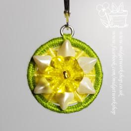 Daffodil Dorset Button Stitch Markers