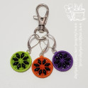 Snowflake Halloween Buttons - Lobster Clasp