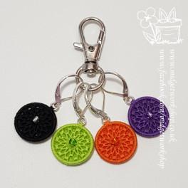 Mandala Halloween Dorset Button Stitch Marker Set