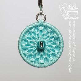 Mandala Dorset Button Earrings and Pendant