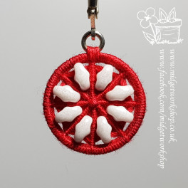 Snowflake Dorset Button Earrings and Pendant
