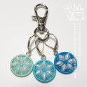 Aqua, Bright Aqua and Turquoise Buttons - Lobster Clasp